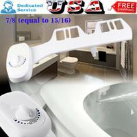 ABD Serbest nakliye 7/8 Klozet Kapağı Eklenti Banyo Suyu Spreyi Olmayan Elektrik Mekanik kendi kendini temizleyen bide