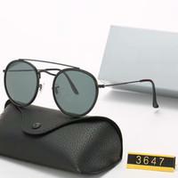 Classique concepteur de la marque de conduite Lunettes Métal Or Lunettes de soleil rondes polarisants monture de lunettes Hommes Femmes Miroir Lunettes de soleil verre Polaroid lentille