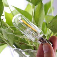 BRELONG T25 Edison LED Нить Лампочка Диммируемый Подсвечник трубка 1W 2W E12 E14 110V 220V Белый Теплый белый