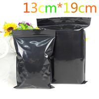 "13 * 19cm (5.1 ""* 7.5"") 100Pcs / Lot refermable Zip verrouillage Noir Event Emballage Paquet Poly Sac auto Joint ziplock Emballage Pochette"