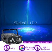 Sharelife мини-РГ Гобо Аврора лазер смешанный синий светодиод водяные знаки лазерный свет для концерта домой DJ этап освещения партии автозвук 610