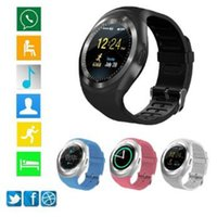 Bluetooth smartwatch Y1 per Lenovo huawei orologio 2 supporto SIM SD card sport smart watch donne uomini fitness tracker 50 PZ DHL