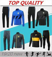 2019 2020 INTER Fußball Trainingsanzug Jacken Kits 19/20 Survêtement ICARDI CANDREVR Trainingsanzug Fußball Trainingsanzug Jacke veste Set