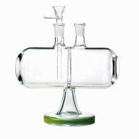캡슐 독특한 디자인 봉인 무한 무한 폭포 유리 물 담뱃대 거래 가능한 중력 14mm 여성 관절 물 봉지 파이프 Dab 왁스 오일 rigs 그릇