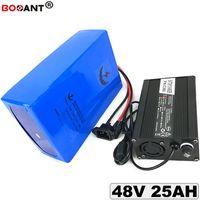 Batería de batería De Lítio 48 v BBSHD 25AH Para Bafang 500 w 1000 w Hacer Motor Bicicleta Elétrica Da Bateria Li-ion 48 v + 5A Carregador