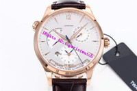 42MM 마스터 지 남성용 시계 GMT 날짜 예비 전력 손목 시계 스위스 939/1A 자동 기계적인 28800vph 사파이어 가죽 스트랩
