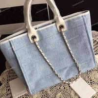 2019 Summer Travel Beach Canvas Bag Fashion Large Shopping B...