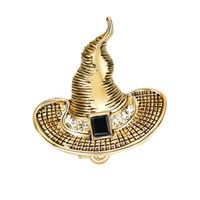 10 قطع الساحرة قبعة دبابيس دبابيس النساء الرجال ل جامعة أسطورة لولو نمط بروش إبرة للجنسين هدية بالجملة