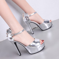 Luxury women designer slides silver bowtie high heels bridal...