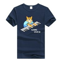 Teewining Keyboard Cat T Shirt The It Crowd Roy camiseta Hombres Mujeres Camiseta Streetwear Tee Piano Cat Game Over J190524