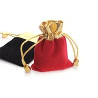 الذهب الخرزة المخملية حقيبة مجوهرات الحقيبة هدية حقائب حفل زفاف الرباط حقيبة امرأة مجوهرات العرض هدية التعبئة حقيبة