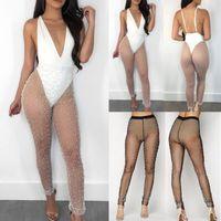 Sexy calientes de las mujeres de malla apretada Sheer medias transparentes de la pierna pantalones del cordón Cover Up NUEVO