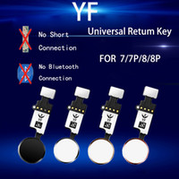 10Pcs YF Universal-Knopf-Flexkabel für iPhone 7 8 Plus Menütastenfeld Return On Off Fuction Lösung