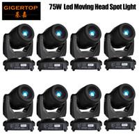 İndirim Fiyatı 8 Paketi 75W LED Spot Başkanı Gobo Prizma Fonksiyonu Elektronik Odak Zoom'u Moving Head Işıklar DMX512 Kontrol ABD LUMINUS Led Moving