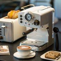 Nova 15bar Espresso Offee Máquina Máquina Retro Estilo Semiutomático Tipo de Vapor Italiano Espuma 2 e 1 Alças Fácil de Usar