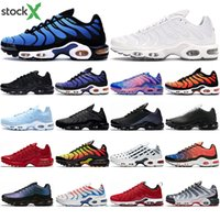 CALDO TN Inoltre Running Shoes Ultra SE Uomini Throwback futuro tripla nero bianco Hyper Crimson Chaussures Athletic dimensione Sneakers Sport 40-45