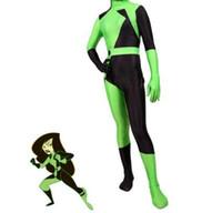 Super Villain Kim Mogelijke Shego Kostuum Vrouwelijke Halloween Kostuum Lycra Spandex Zentai Suit Shego Cosplay Kostuums