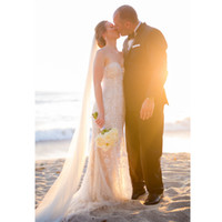 2019 Veil de mariage élégant de 3 mètres de long voile de mariée douce avec peigne accessoires de mariage de mariée d'ivoire blanc d'ivoire