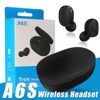 Auricolari TWS Auricolari Bluetooth A6S Mini auricolare wireless con scatola di ricarica Bluetooth 5.0 PK I11 I9S I18 I7S con scatola al dettaglio