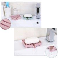 Platos de jabón 2021 Abedoe Caja de drenaje creativo Holde plato Almacenamiento Canasta Accesorios de baño