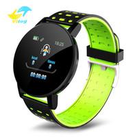 Vitog Fitness Armband Blutdruck 119 Plus Smart Watch Band Tracker Uhren Frauen Männer Herzfrequenz Monitor Armband Smartwatch