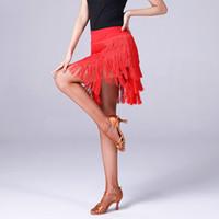 Stage Wear Latin Dance Gonna Gonna Donne Sexy Multi-Layer Tassel Gonne Gonne Fringe Pratica Ballroom CHA Salsa Samba Dancing Vestiti DL4249