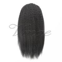 Brasileira Afro Kinky Curly natural de 100 g 120 g Weave clipes na faixa elástica laços com cordão de-cavalo Virgin extensão do cabelo humano