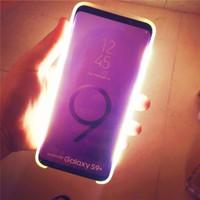 Nova iluminação criativa luminosa flash led case para samsung s10 mais s9 s8 iluminado telefone capa para iphone x xs max xr