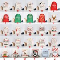 230pcs / porción nuevo estilo de santa sacos de Navidad de Santa bolsas de regalo del envío libre personalizó saco de lona pesada para al por mayor