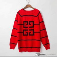 Mens designer sweaters fashion Embroidery Pullover long slee...