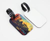 Сублимации пустые сумки для багажа аксессуары симпатичные новинка мдф дерево фанки путешествия багажная этикетка ремни чемодан бирки