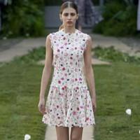 Retro Art-Stickerei-Blumen Hohle Slim Fit Temperament elegant ärmelMiniKleid der Frauen Frühling-Sommer 2020 Neu
