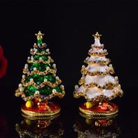 Joyería metal navidad regalo del árbol de navidad de Navidad de la caja de la decoración del hogar caja del caramelo de la Navidad Decoración del ornamento 2Colors