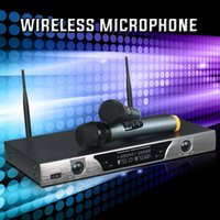 MU- 328 sound equipment UHF Dual Wireless Microphone with LCD...