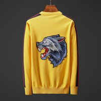 Men' s Designer Sweater Brand Sweater with Tiger Wolf Em...