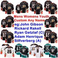 Anaheim Ducks Maillots Hommes Jacob Larsson Jersey Hampus Lindholm Manson Josh John Gibson Ryan Miller Hockey sur glace chandails personnalisés Cousu