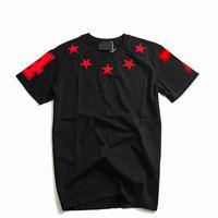 2019 Mens camiseta Pares Homens Mulheres de alta qualidade manga curta Moda Verão estrelas impressão T Shirt Tees Preto S-XL