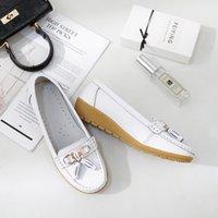 Sapatos casuais Mulher 2019 Couro Moda Slip On Oxford sapatos para as mulheres Branco Costura Adulto Confortável Hot marca de calçados MM-334