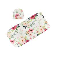 Baby Blanket Sleeping Printed Newborn Floral Sleep Cocoon Kids Cartoon With Infant Bags Sacks Sleeping Swaddling Sack Hats 06 Gbmrx