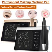 Jogo permanente da máquina da composição da bateria recarregável da tela de toque para a máquina do lápis de olho do bordo da sobrancelha
