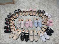 2019 Muller Ayakkabı loafer'lar Gerçek Deri Terlik moda tasarımcısı Lüks Kadınlar Mules Princetown Nakış Ayakkabı yumuşak rahat