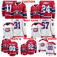 Montreal Canadiens Formalar Jonathan Drouin Jersey Phillip Danault Carey Fiyat Max Pacioretty Brendan Gallagher Kırmızı Beyaz Hokeyi Formalar Cust