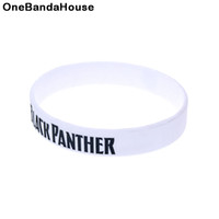 1PC Ink Filled Logo Black Panther Silicone Rubber Arm Band A...
