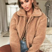 Fleece Jacket Women Lovely Fluffy Teddy Bear Faux Fur Jacket...