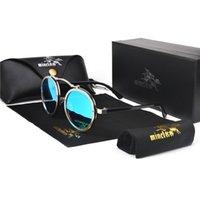 Atacado-MINCL 2019 Nova Moda Rodada Punk Óculos De Sol dos homens e das Mulheres Eyewear Marca Designer Retro Óculos De Sol UV400 com caixa NX