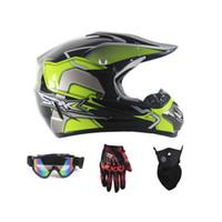 gözlük eldiven ile motosiklet tam kask aşağı sıcak Motosiklet bisiklet çapraz MTB DH yoldan motosiklet çapraz yarış kask noktası maske