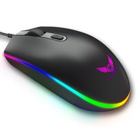 Pro Wired Gaming Mouse 4 Button RGB LED Optical USB Computer...