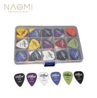 Наоми гитара выбирает 100 шт. акустическая электрическая гитара выбирает Plectrum различные 6 толщина + Pick Box гитара части аксессуары новый