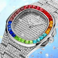 Hip Hop Diamond Mens Watches Top Steel Iced Out Watch Waterp...