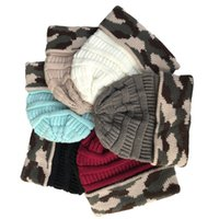viajar 6styles camuflaje sombrero de las lanas del invierno hicieron punto los sombreros de camuflaje al aire libre Gorros señoras de los hombres cráneo unisex Caps casquillo caliente FFA3042